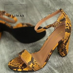 NEW🔥 Phyton Open Toe Sandal Ankle Strap High Heel